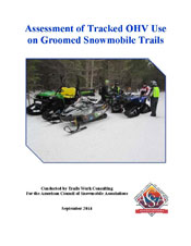 Assessment of Tracked OHV Use on Groomed Snowmobile Trails PDF