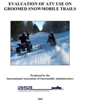 Evaluation of ATV Use on Groomed Snowmobile Trails PDF
