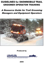 Guidelines For Snowmobile Trail Groomer Operator Training - A Resource Guide PDF For Trails Grooming Managers And Equipment Operators