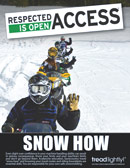 'Snow How'-PSA poster-encouraging riders to know their snowmobile and personal riding abilities, along with knowing travel routes and riding boundaries