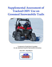 Supplemental Assessment of Tracked OHV Use on Groomed Snowmobile Trails PDF