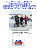 Fat Tire Bicycle Use on Snowmobile Trails