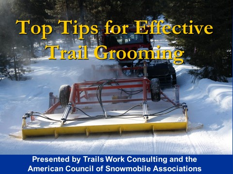 Toptips for snowmobile trail grooming