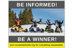 This 940 pixel x 788 pxel social-media meme promotes the snowmobileinfo.org website