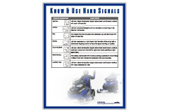 Snowmobilers hand signals poster