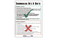 Snowmobiler's Do's & Don'ts poster
