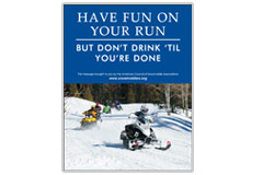 'Have Fun on Your Run, But Don't Drink Till You're Done' poster