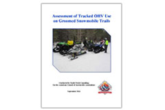'Assessment of Tracked OHV Use on Groomed Snowmobile Trails' rreport