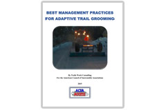 'Best Management Practices for Adaptive Trail Grooming' report