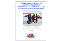 'Management Factors to Consider Regarding Fat Tire Bicycle Use on Groomed Snowmobile Trails' report