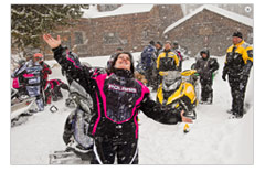 Snowmobiling photos